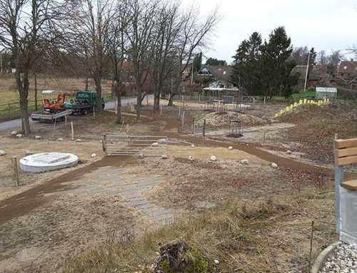 Ombygning renseanlæg til grøntområde